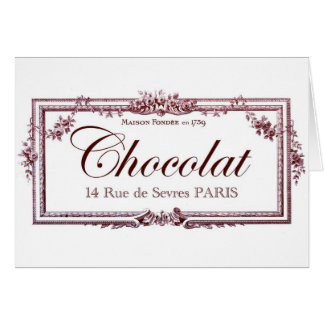Chocolate lovers love this vintage French art Cards