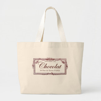 Chocolate lovers .... love this vintage French art Large Tote Bag
