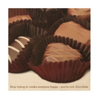 chocolate lovers sentiment with photo of chocolate wood wall art