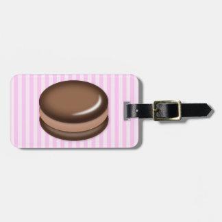 Chocolate Macaron Luggage Tag