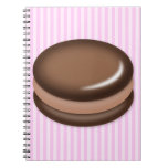 Chocolate Macaron Spiral Note Books