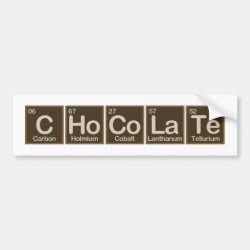 Bumper Sticker with Chocolate design