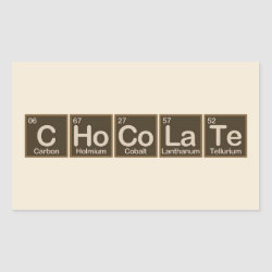 Rectangle Sticker with Chocolate design
