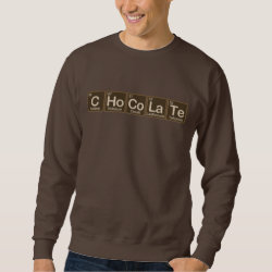 Men's Basic Sweatshirt with Chocolate design