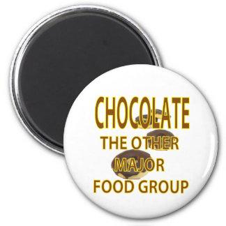 Chocolate 2 Inch Round Magnet