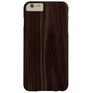 Chocolate Mahogany Dark Wood Grain Texture Barely There iPhone 6 Plus Case