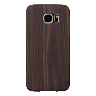 Chocolate Mahogany Dark Wood Grain Texture Samsung Galaxy S6 Case