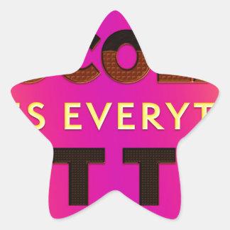 Chocolate makes everything better star sticker