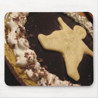 Chocolate Man Pie Mouse Pad