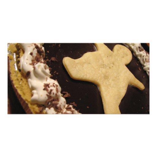 Chocolate Man Pie Photo Cards
