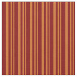 [ Thumbnail: Chocolate & Maroon Colored Lines/Stripes Pattern Fabric ]
