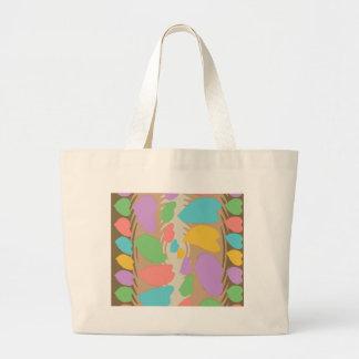 Chocolate Marshmallow Heart Swirl Pattern Tote Bags