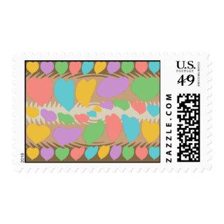 Chocolate Marshmallow Heart Swirl Pattern Stamps