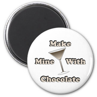 Chocolate Martini 2 Inch Round Magnet