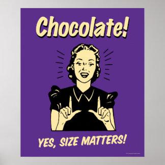 Chocolate: Materias del tamaño Posters