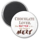 Chocolate Melt 2 Inch Round Magnet