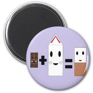 Chocolate Milk 2 Inch Round Magnet