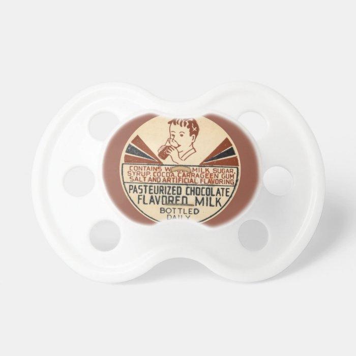 Chocolate Milk Bottle Cap Pacifier