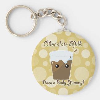 Chocolate Milk Does a Body Yummy Basic Round Button Keychain