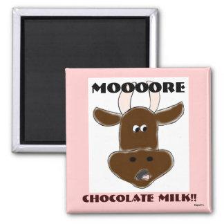 Chocolate Milk 2 Inch Square Magnet