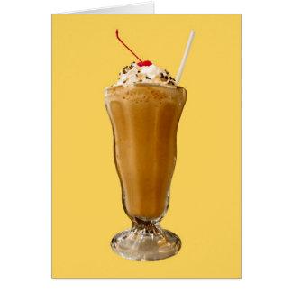 Chocolate Milkshake Card
