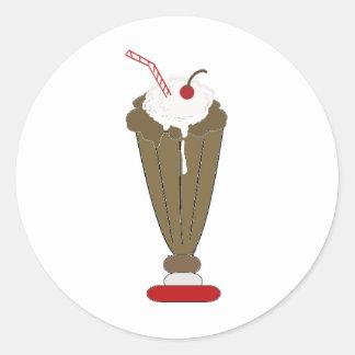 Chocolate Milkshake Classic Round Sticker