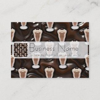 Chocolate Milkshake Pattern Business Card