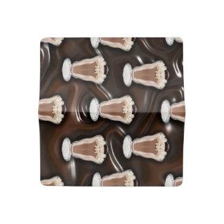 Chocolate Milkshake Pattern Checkbook Cover