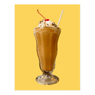Chocolate Milkshake Postcard