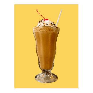 Chocolate Milkshake Postcard