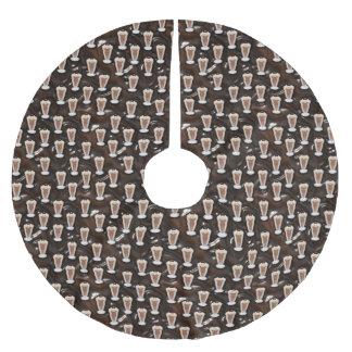 Chocolate Milkshakes Pattern Brushed Polyester Tree Skirt