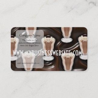 Chocolate Milkshakes Pattern Business Card