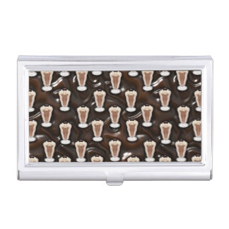 Chocolate Milkshakes Pattern Business Card Case