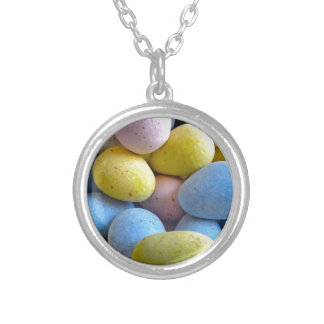 Chocolate Mini Eggs Silver Plated Necklace