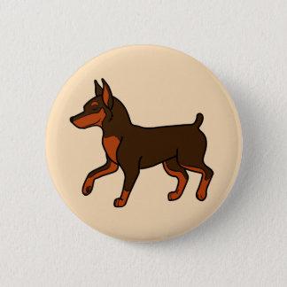 Chocolate Miniature Pinscher Button