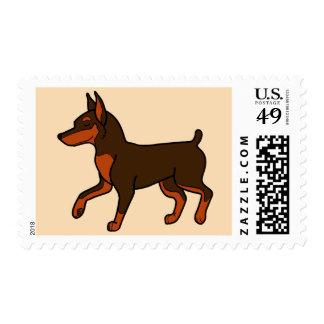 Chocolate Miniature Pinscher Stamps