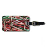 Chocolate Mint Candy Canes Bag Tag