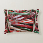 Chocolate Mint Candy Canes Decorative Pillow
