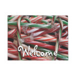 Chocolate Mint Candy Canes Doormat
