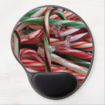Chocolate Mint Candy Canes Gel Mouse Pad