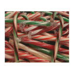 Chocolate Mint Candy Canes Holiday Wood Print