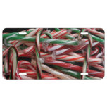Chocolate Mint Candy Canes License Plate