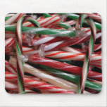 Chocolate Mint Candy Canes Mouse Pad