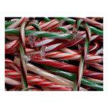 Chocolate Mint Candy Canes Poster