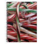 Chocolate Mint Candy Canes Spiral Notebook