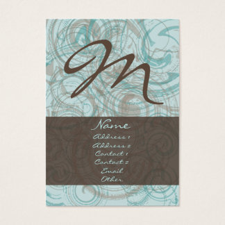Chocolate Mint Chubby Business Card