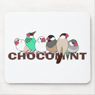 Chocolate mint java sparrow mouse pad
