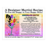 Chocolate Mint Martini Recipe Card Postcard