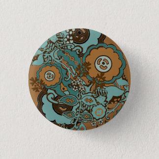 Chocolate Mint Paisley Button