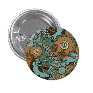 Chocolate Mint Paisley Pinback Buttons